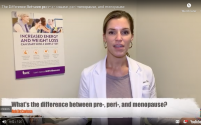 THE DIFFERENCE BETWEEN PRE-MENOPAUSE, PERI-MENOPAUSE, AND MENOPAUSE