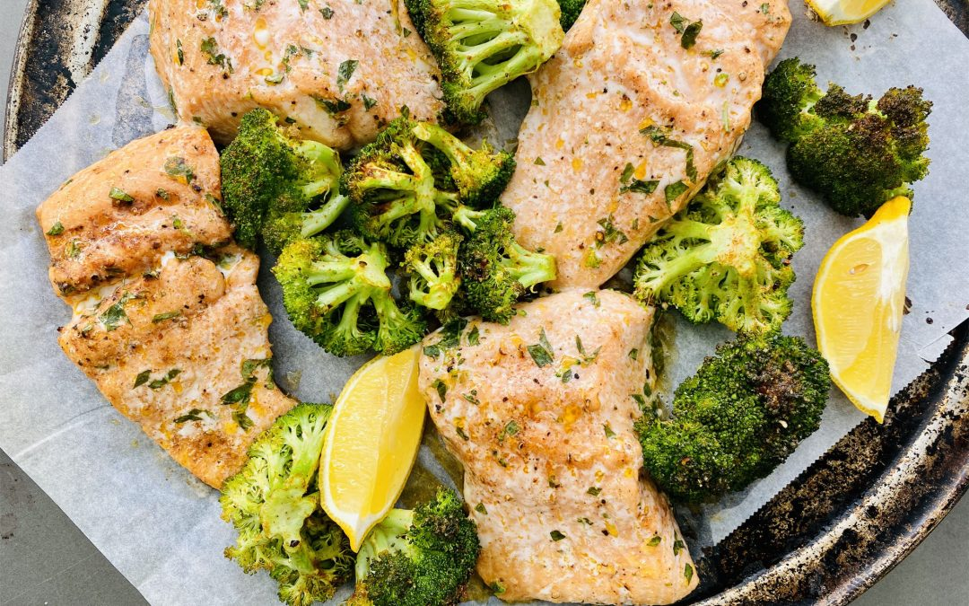 BAKED FISH AND BROCCOLI